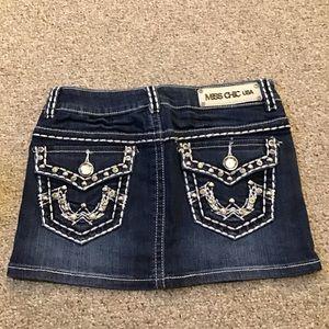 New Miss Chic Mini Denim Skirt